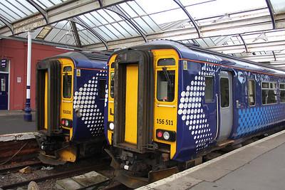 Scotrail 156506_156511 Kilmarnock Railway Station Sep 18