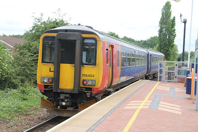 East Midlands Trains 156403 Hucknall Station Jun 18