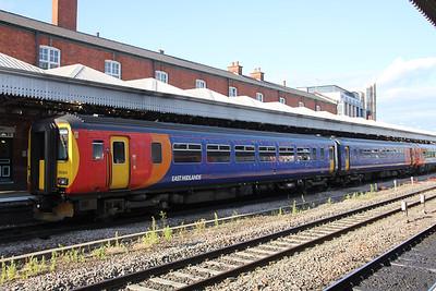 East Midlands Trains 156404 Nottingham Station 1 Jun 18
