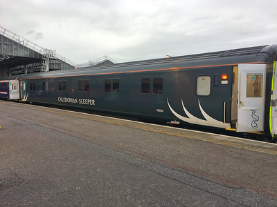 Caledonian Sleeper Carriage Inverness Station Aug 17