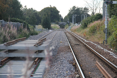 Elgin West Signal Box Looking West New Track 2 Sep 17