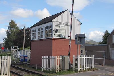 Elgin West Signal Box 6 Sep 17