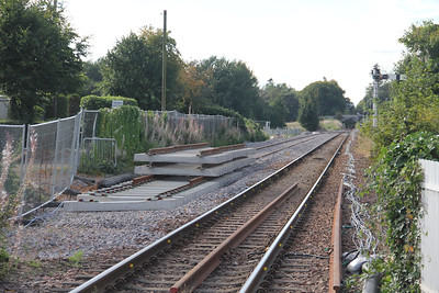 Elgin West Signal Box Looking West New Track Sep 17