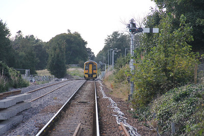 Elgin West Signal Box Looking West New Track 158727 Sep 17