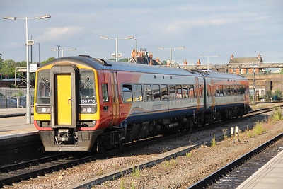 East Midlands Trains 158770 Nottingham Station Jun 18