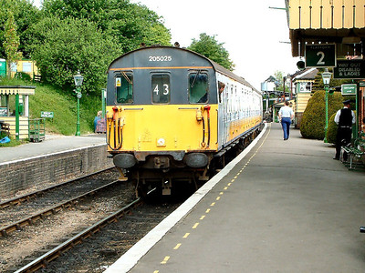 205025, newly preserved, waits at Ropley with a service to Alresford on the 21st May 2004