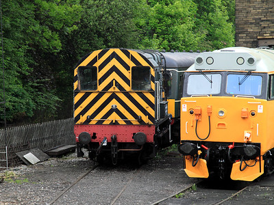 08266 is stabled in Haworth depot on the 13th June 2010