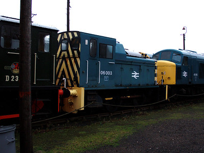 06003 gets wet at Barrow Hill on the 6th January 2007