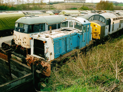 07005 awaits it's fate at Barrow Hill on the 20th April 2002