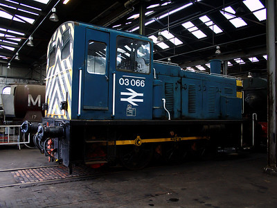 03066 awaits it's next job in the roundhouse at Barrow Hill on the 6th January 2007