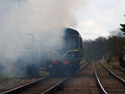 51427 brings up the rear of a Rothley bound service as it leaves Quorn & Woodhouse on the 13th April 2008