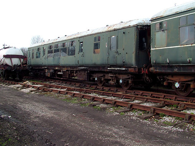 51118 awaits the call to the restoration shed in Swanwick yard on the 31st March 2007
