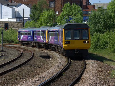 142016 and 142018 arrives at Bolton on the 1st June 2009