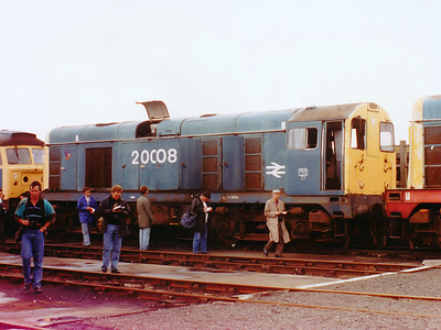20008 at Thornaby TMD on the 30th August 1990