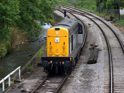 20031 sits on the approaches to Haworth depot on the 6th June 2009