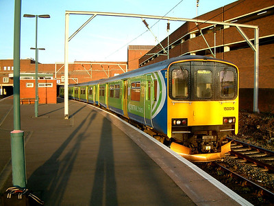 150019 leaves Walsall on the 21st January 2006