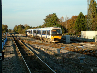 165011 leads 165002 into Princes Risborough on the 4th November 2006
