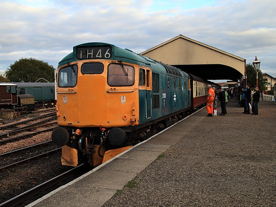 27001 awaits departure time at Bo'ness on the 16th October 2010