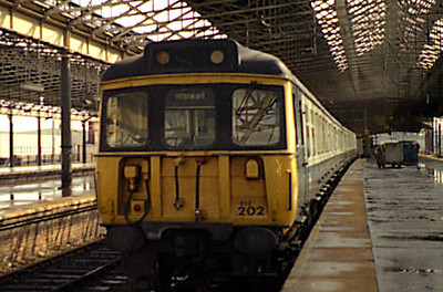 312202 stands at Rugby on the 2nd April 1986