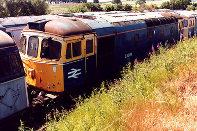 33029 at Barrow Hill on the 16th July 2000