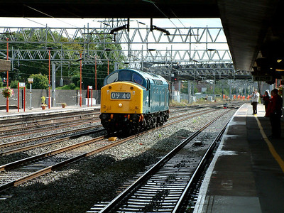 40145 ambles through Stafford on the 29th August 2006