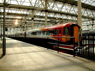 2402, the first unit to be painted into SWT colours in 1996, awaits time at London Waterloo on the 2nd September 2004