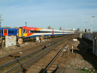 2408 passes through Clapham Junction on the 9th February 2004