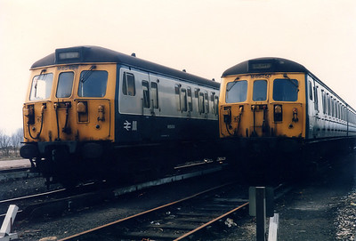 64450 and 65454 wait for their next booked workings at Bury ETD on the 3rd April 1986