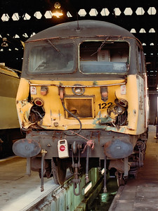 56122 shows off the collision damage that later saw it withdrawn at Toton TMD on the 25th July 1992