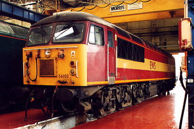 56103 at Crewe Works on the 20th May 2000