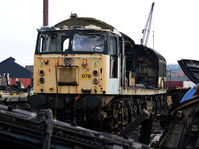 56076 slowly disappears at the hands of CF Booth's scrap men on the 14th February 2009