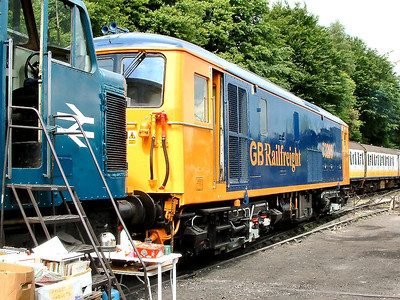 73205 shows off it's owner's colours at Ropley on the 21st May 2004