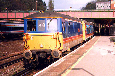73109 at Farnborough Main on the 9th April 1999
