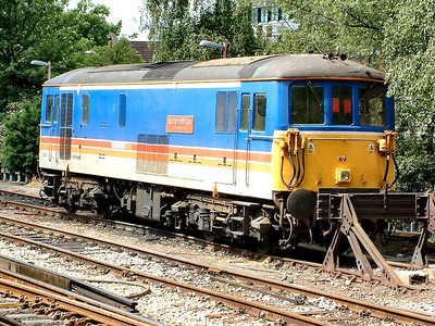 73109 waits for it's next job at Woking on the 21st May 2004