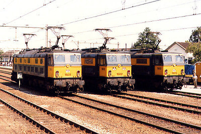 1501 (with 1502 and 1503) at Boxtel Yard on the 14th June 1986