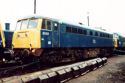 85101 at Barrow Hill on the 5th October 2000