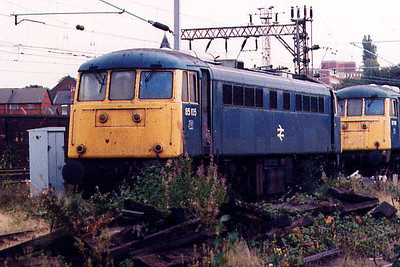 85105 at Crewe International ETD on the 25th July 1992