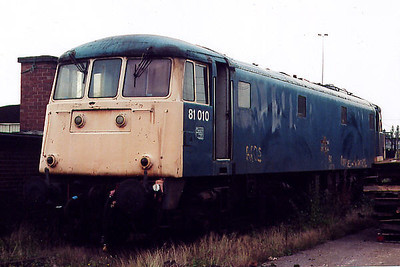 81010 at Crewe International ETD on the 12th October 1991