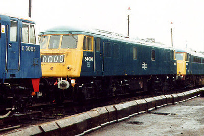 84001 at Barrow Hill on the 5th October 2000