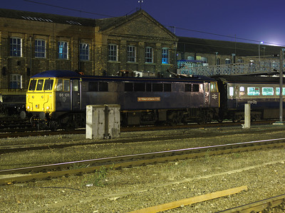 86101 sits on the end of the Hull Trains mk3 set at Doncaster on the 16th February 2008