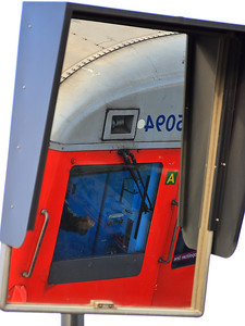 5094 is reflected in the East London Line platform mirror at New Cross Gate on the 18th December 2007