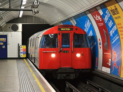 In it's final months of service, a train of 1967 stock arrives at Oxford Circus on the 9th February 2011