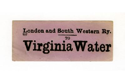LSWR luggage labels V