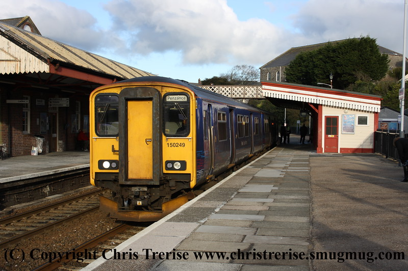 Class 150/2 2 Car Sprinter DMU number 150 249 at Redruth