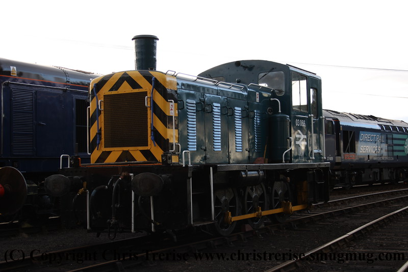 Class 03 Diesel Locomotive number 03 066 at Barrow Hill Model Rail Live.<br /> 24th September 2010