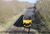 Class 150/1 2 Car Sprinter DMU Set number 150 130 passes Tiverton Loop with 2Z69 1004 Bristol Temple Meads to Penzance.<br /> 21st February 2018