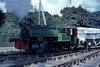 "Bagnall 0-4-04ST ""Alfred"" is seen at Par Harbour.<br /> 3rd September 1965"