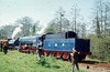 "Austerity 2-10-0 Steam Locomotive number 600 named ""Gordon"" is seen on the Longmoor Military Railway at Longmoor Downs. <br />  30th April 1966"