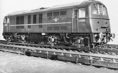 Class 71 Electric Locomotive number E5000.  Official BR Publicity photograph supplied with thanks by Mr G Holmes.<br /> 11.01.59