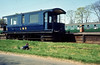 ex LNWR 6 wheel coach is seen at Longmoor Downs.<br /> 30th April 1966